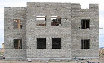 Двухэтажная постройка из опилкобетона