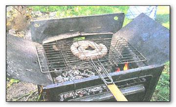 Мангал из газовой плиты