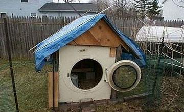 Собачья будка из старой стиральной машины
