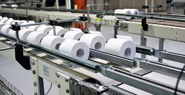 Туалетная бумага в производственном цехе