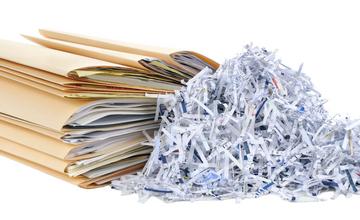 Измельченные документы