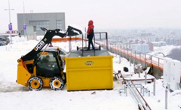 Работа снегоплавильной установки