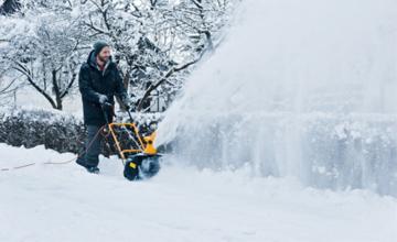Глубина снега в работе снегоуборщика