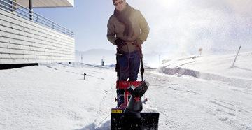 Снегоуборщик в действии
