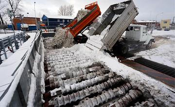 Работа снегоплавильной станции