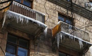 Наледь на козырьке балкона как убрать